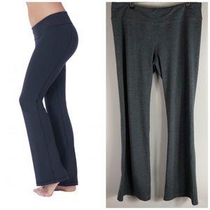 Soybu Gray Full Length Flare Yoga Pants Leggings